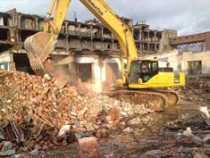 демонтаж здания строения